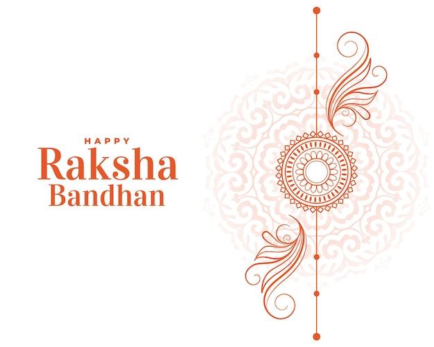 Fröhlicher raksha bandhan handgezeichneter linienstilgruß