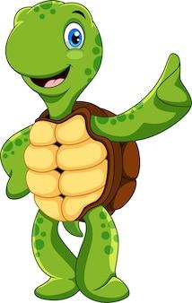 Fröhlicher schildkröten-cartoon