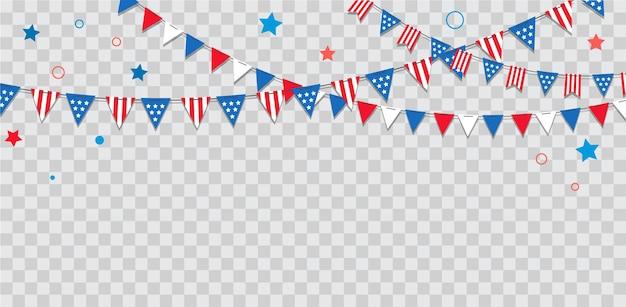 Fröhlicher usa-unabhängigkeitstag th juli amerikanische feiertagsfeier