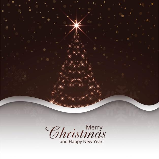 Fröhlicher weihnachtsbaum-feierhintergrund