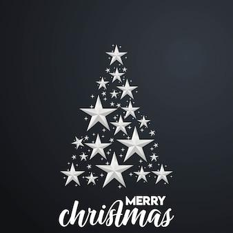 Fröhlicher weihnachtsbaum-hintergrund