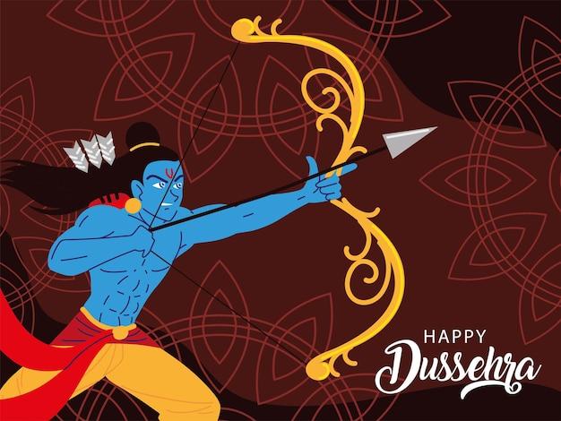 Fröhliches dussehra-fest in indien