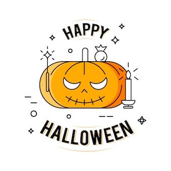 Fröhliches halloween. abbildung auf dem weißen hintergrund