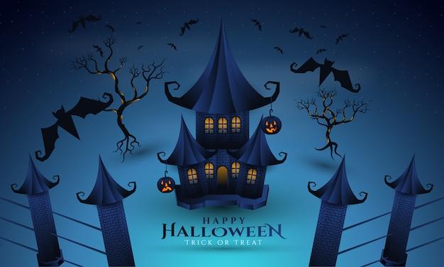Fröhliches halloween auf dem nachthintergrund