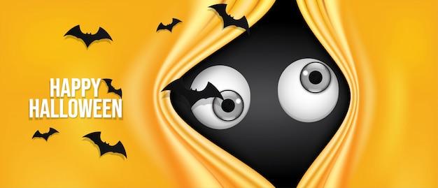 Fröhliches halloween banner.