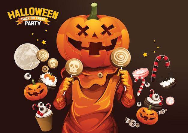 Fröhliches halloween, ghost, treat oder trick.