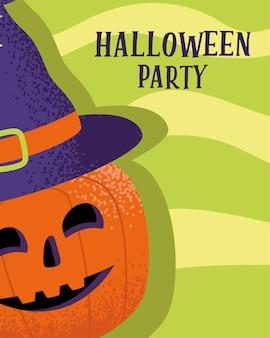 Fröhliches halloween-poster