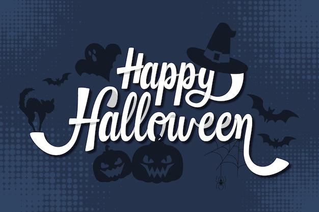 Fröhliches halloween - schriftzug