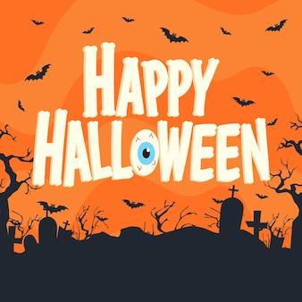 Fröhliches halloween - schriftzugdesign