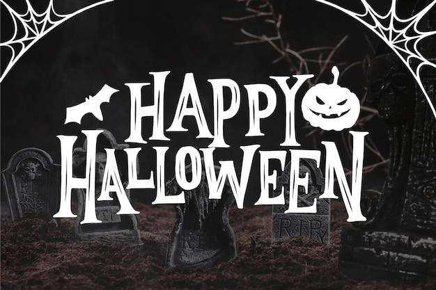 Fröhliches halloween - schriftzugkonzept