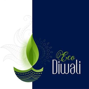 Fröhliches öko und sicheres diwali