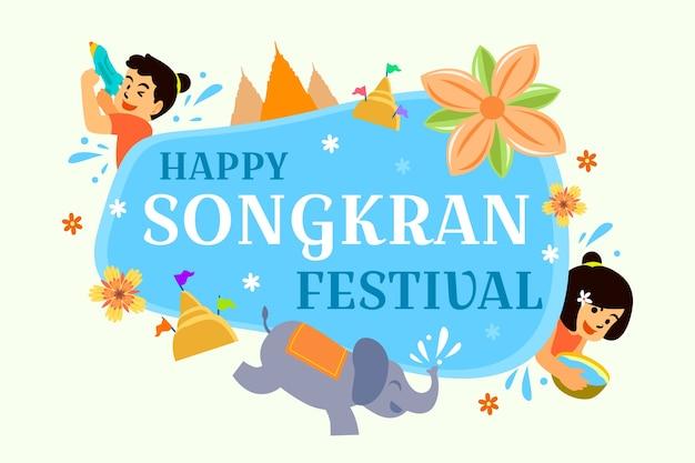 Fröhliches songkran festival