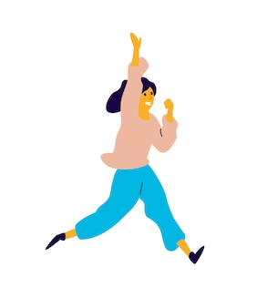 Fröhliches tänzerin.