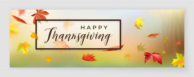 Fröhliches thanksgiving-banner