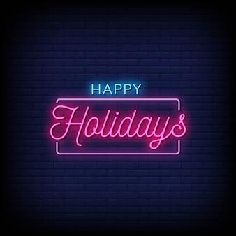 Frohe feiertage leuchtreklamen