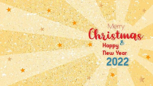 Frohe feiertage und ein erfolgreiches neues jahr! vektorhintergrund im format eps10 mit realistischem bokeh und goldglitter.