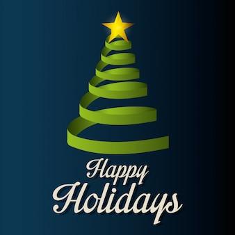 Frohe feiertage weihnachtsdesign