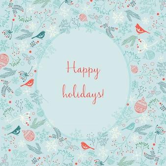 Frohe feiertage weihnachtshintergrund