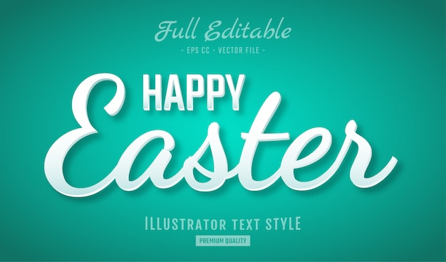 Frohe ostern clean text style effect premium
