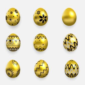 Frohe ostern goldene eier