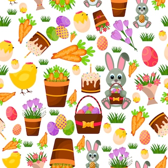 Frohe ostern nahtlose muster