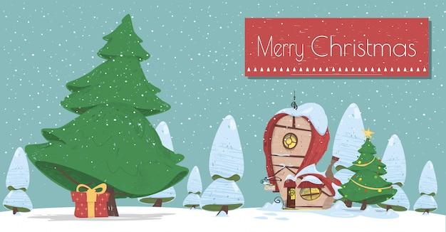 Frohe weihnacht-cartoon-gruß-karte