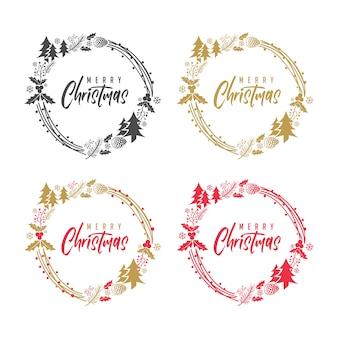 Frohe weihnacht-kiefer-rustikale verzierung