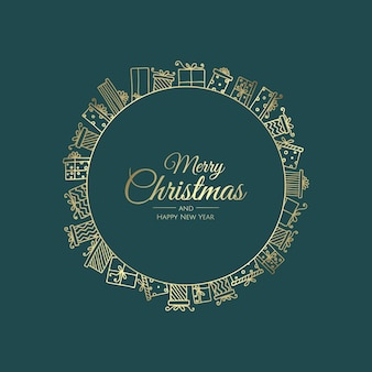 Frohe weihnachten-abstrakte karte mit rahmen. weihnachtsverkauf, feiertags-webbanner.