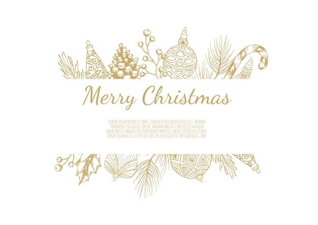 Frohe weihnachten abstrakte karte mit rahmen