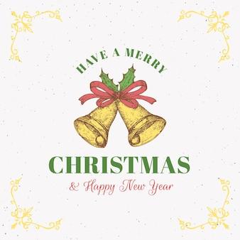 Frohe weihnachten abstrakte karte