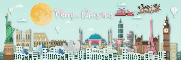 Frohe weihnachten auf der ganzen welt