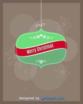 Frohe weihnachten auf einer weihnachtskugel