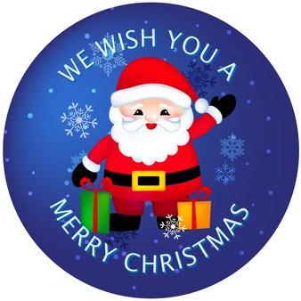 Frohe weihnachten aufkleber / buttons