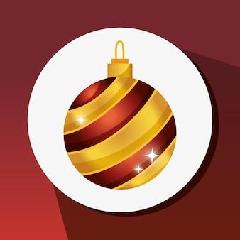 Frohe weihnachten ball dekoration