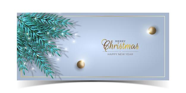 Frohe weihnachten-banner-design mit textraum