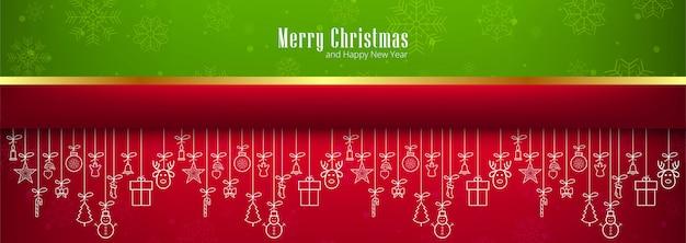 Frohe weihnachten banner horizontal