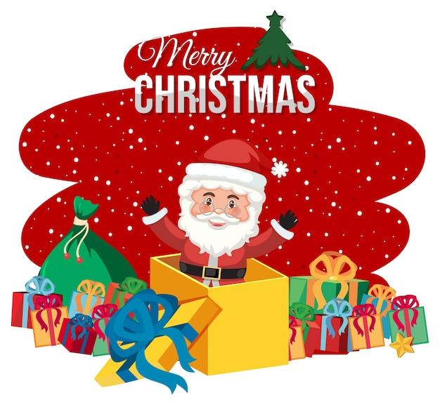 Frohe weihnachten banner lokalisiert auf weiß
