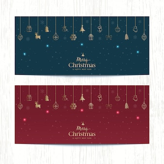 Frohe weihnachten banner website-design.