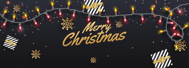 Frohe weihnachten banner.