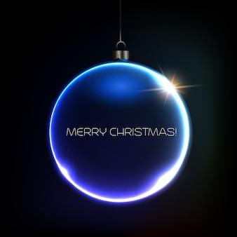 Frohe weihnachten bauble grußkarte. illustration.