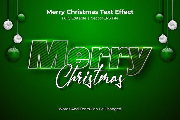 Frohe weihnachten bearbeitbarer textstil-effekt