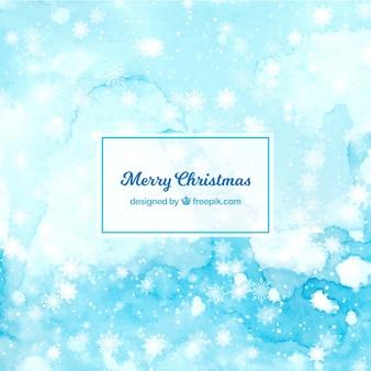 Frohe weihnachten blauem hintergrund
