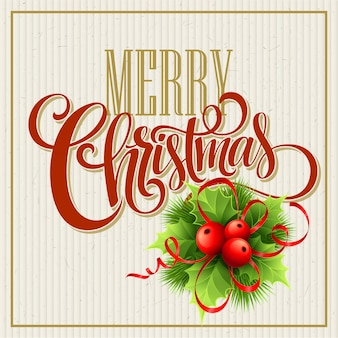 Frohe weihnachten briefgestaltung, grußkarte