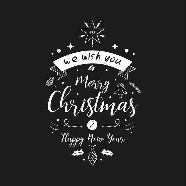 Frohe weihnachten briefgestaltung und dekoration.