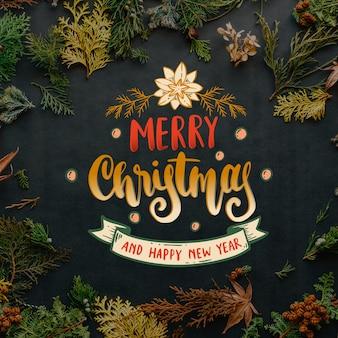 Frohe weihnachten-briefgestaltung