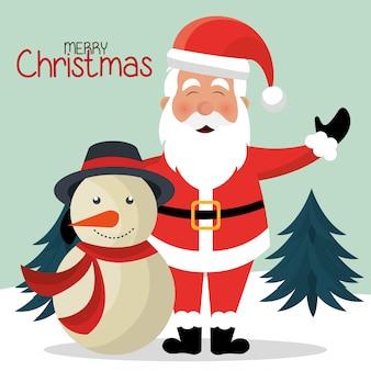 Frohe weihnachten bunte kartendesign