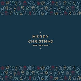 Frohe weihnachten bunte symbol elemente blauen hintergrund