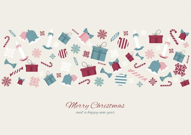 Frohe weihnachten buntes element
