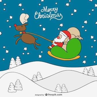 Frohe weihnachten cartoon-hintergrund