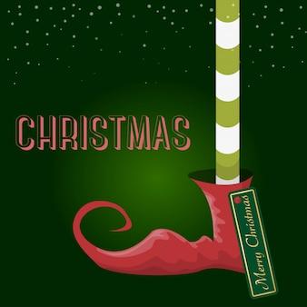 Frohe weihnachten-cartoon